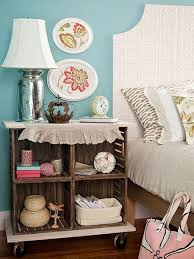 Storage & Organization: Diy Wood Crate Side Table In Bedroom - Crate  Furniture