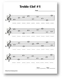 the music staff treble clef lines and spaces name the notes on the music
