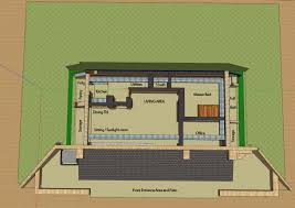 The Pinnacle House An Earth Sheltered Home In Lyme NH Earth Shelter Underground Floor Plans