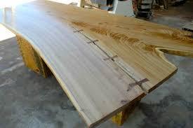 7 foot rusitc siberian elm slab conference table