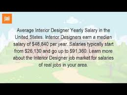 Annual Salary Of An Interior Designer Awesome Design