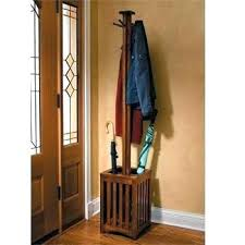 Wooden Coat Rack With Umbrella Stand Extraordinary Coat And Umbrella Stand Wooden Coat Racks Astounding Wood Rack With