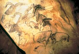 aurochs horses and rhinoceroses wall painting in the chauvet cave