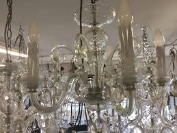 5 light vintage chandelier czech crystal