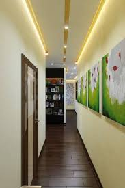 Bright Hallway Colour Ideas With Led Lighting And Wall Art Gallery In Wall  Art Ideas For