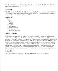 ... Skill resume, Resume Templates Sql Data Analyst Sas Data Analyst Resume  Sample: 48 Data ...