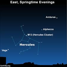 Constellation Sky Chart Find Hercules Between 2 Bright Stars Tonight Earthsky
