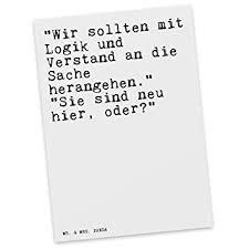 Mr Mrs Panda Postkarte Mit Spruch Wir Sollten Mit Logik Und