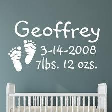 custom nursery wall decal baby
