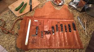 picture of leather chef s knife roll picture of leather chef s knife roll