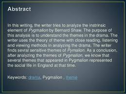 intrinsic element in bernard shaw s pyg on