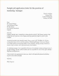 Sample Job Cover Letter Application For The Position Marketing