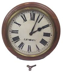 english pub clock with pendulum ca 1900