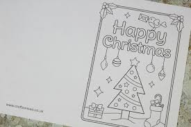 Includes three different cute designs. Free Printable Christmas Cards To Colour Christmas Tree Crafts On Sea