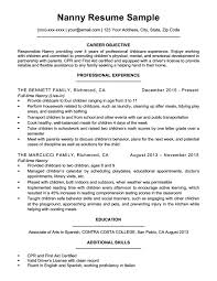 Nanny Resume Examples Unique Nanny Resume Sample Writing Tips Resume Companion