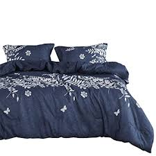 wake in cloud navy blue comforter set