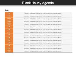 hourly agenda blank hourly agenda good ppt example ppt images gallery
