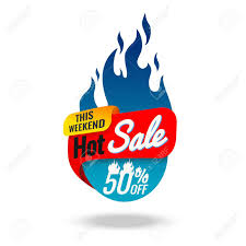 Hot Sale Banner, This Weekend Special Offer, Vector Illustration ...