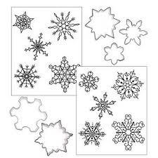 Cookie Cutter Texture Mat Combo Snowflake Cake Art