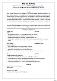 Cashieresume Job Description Examples Objective Forestaurant