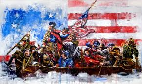 Original Threepercenters crossing the Delaware led by George washington.