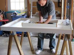mold for precast concrete countertop via diy network