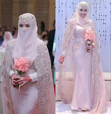 gorgeous arabic muslim wedding dresses 2016 high neck lace