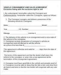 consignment form for cars gold consignment agreement consignor and consignee sample irelay co