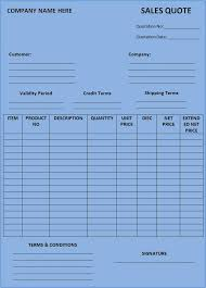 software quotation format in word free quotation form template