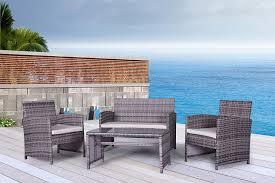 gray outdoor patio set. gray outdoor wicker patio furniture sets set