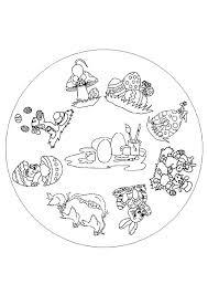 Mandalas For Advanced Coloring Pages Printable Animals Bunny Mandala