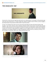 le cinema dreams film essay the graduate