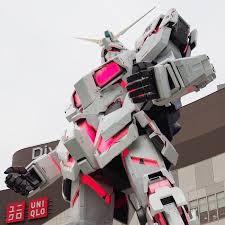 life size unicorns unicorn gundam life size statue picture of diver city tokyo plaza
