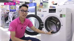 Máy giặt lồng ngang Aqua Inverter 9Kg: Giặt nhẹ, quần áo sạch sẽ  (AQD-D900F.W) - Điện máy MediaMart - YouTube