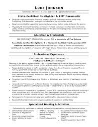 Firefighter Resume Sample Firefighter Resume Examples As Job Resume