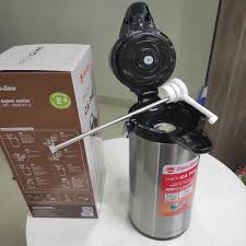 Phích nước 2.5L Rạng Đông có cần bơm tay tiện dụng - Bình thủy giữ nhiệt  không điện