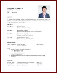 College Student Resume No Experience Spectacular Example Of Resume