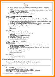 11+ Fresher Resume Format For Accountant | Trinity-Training