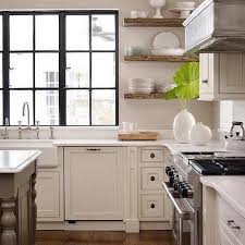 Ivory Floating Shelves Gorgeous Kitchen With Wood Floating Shelves Transitional Kitchen WINDOWS