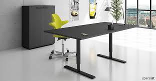 office desk black. Q-10 Black Standing Office Desk