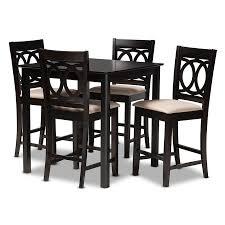 Baxton Studio Lenoir <b>Modern 5-Piece</b> Pub Set in the Dining Room ...