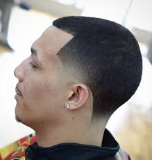 8 buzz cut temple fade