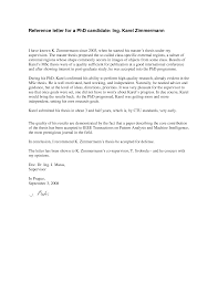 Recommendation Reference Letter For Mba Sample Letter Of
