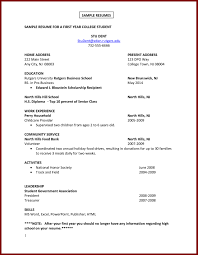 Student Resume Samples No Experience Resume Work Experience