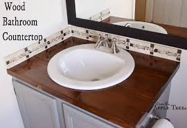 diy wood bathroom countertop over the apple tree