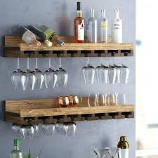 wall mounted wine glass rack design rustic tiered wall mounted wine glass rack reviews wall mounted
