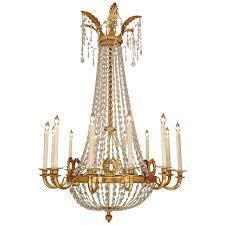 italian 18th century louis xvi period gilt wood 12 light chandelier