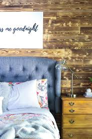 achieve a bold and beautiful look in your master bedroom using charred wood appearance boards blogger amanda hendrix of love and renovations gives us a