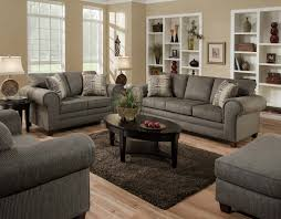 Three Piece Living Room Set American 3750 Romance Graphite 3 Pc Set Sofa Loveseat And Chair