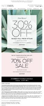 Email Newsletter Design Price Intermix Email Email Design Inspiration Email Design